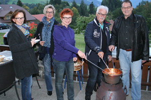 Outdoor Fondue macht Spass